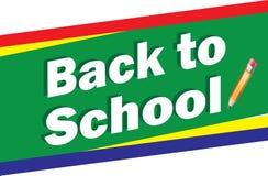 De nouveau à l'école Logo Background Illustration Libre de Droits