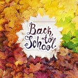 De nouveau à l'école Trame ronde d'automne Photos stock