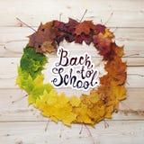 De nouveau à l'école Trame ronde d'automne Photo stock