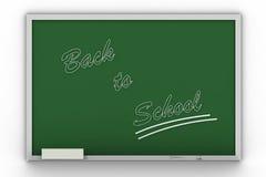 De nouveau à l'écriture d'école sur le blac Image libre de droits