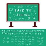 De nouveau à l'alphabet d'école Images libres de droits