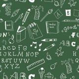 De nouveau à l'illustration d'école. sans couture Image stock