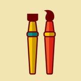 De nouveau à l'illustration de vecteur d'icône d'école Image stock