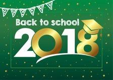 De nouveau à la carte de l'école 2018 Photos libres de droits