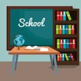 De nouveau à la scène de salle de classe d'école Image libre de droits
