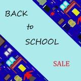 De nouveau à la vente d'offre spéciale d'école illustration stock