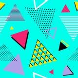 De nouveau à 90s ! Modèle géométrique sans couture Illustration de vecteur Images libres de droits