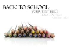 De nouveau au concept d'école Image stock