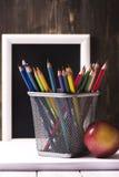 De nouveau au concept d'école Photographie stock libre de droits