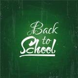 De nouveau au dessin des textes d'école par la craie blanche dans le tableau noir Éléments de Web, pour le blog et les ventes Ban illustration libre de droits