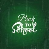 De nouveau au dessin des textes d'école par la craie blanche dans le tableau noir Éléments de Web, pour le blog et les ventes Ban illustration stock
