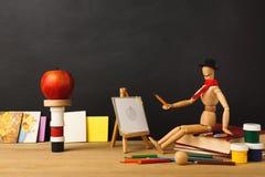 De nouveau au fond conceptuel d'école Photos libres de droits