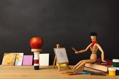 De nouveau au fond conceptuel d'école Photographie stock