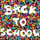 De nouveau au fond d'école avec les lettres colorées Image libre de droits