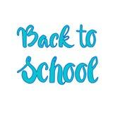 De nouveau au fond de Logo Colorful Text On White d'école Image stock