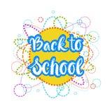 De nouveau au fond de Logo Colorful Text On White d'école Image libre de droits