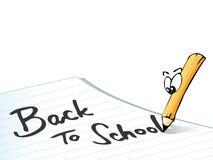 De nouveau au l'école-crayon Image stock