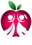 De nouveau au logo de silhouette d'école Images stock
