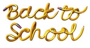 De nouveau au texte d'école Photo libre de droits