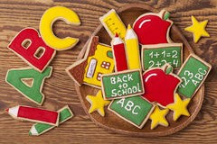 De nouveau aux biscuits d'école Photos stock