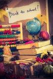 De nouveau aux cadeaux d'automne de fournitures scolaires d'école Photo libre de droits