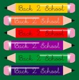 De nouveau aux crayons d'école Images stock
