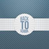 De nouveau à l'emblème de salutation d'école sur le ruban de papier Images stock