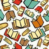De nouveau à la configuration de livres d'école Photos libres de droits