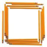 De nouveau à la trame de crayon d'école Images stock