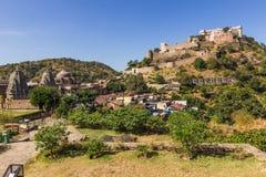 8 de novembro de 2014: Área em torno do forte de Kumbhalgarh, Índia Foto de Stock