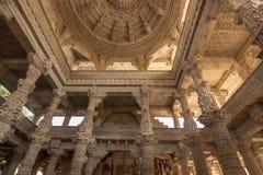 8 de novembro de 2014: Carvings detalhados das paredes dentro do Jai Imagens de Stock Royalty Free
