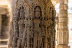 8 de novembro de 2014: Carvings detalhados das paredes dentro do Jai Foto de Stock