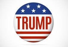 14 de novembro de 2016 Crachá político de Donald Trump Fotografia de Stock