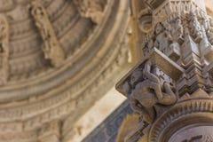 8 de novembro de 2014: Detalhe da arte das paredes cinzeladas do te Jain Foto de Stock Royalty Free