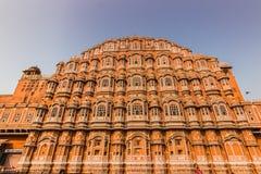 4 de novembro de 2014: Fachada do palácio dos ventos em Jaipur, Foto de Stock
