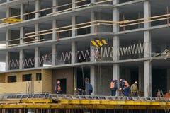 11 de novembro de 2016: A foto da construção do multi-andar residen Imagem de Stock