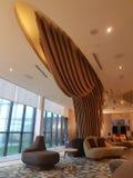 8 de novembro de 2016, Jen Puteri Harbour Hotel Johor Baru, projeto da sala de estar da entrada de Malásia Imagem de Stock
