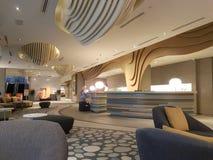 8 de novembro de 2016, Jen Puteri Harbour Hotel Johor Baru, projeto da sala de estar da entrada de Malásia Foto de Stock