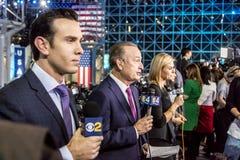 8 de novembro de 2016, noite da eleição em Jacob K Javits centra - o local de encontro para o ni presidencial Democrática da elei Fotos de Stock Royalty Free