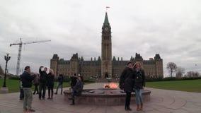 10 de novembro de 2016 - Ottawa, o parlamento Buildngs do ` s de Ontário - de Canadá - de Canadá video estoque