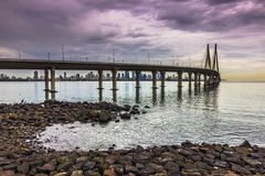 "15 de novembro de 2014: Panorama do bridg da relação do mar de Bandra†""Worli Foto de Stock"