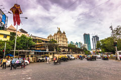15 de novembro de 2014: Templo hindu de Ganesha em Mumbai, Índia Imagens de Stock Royalty Free