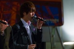 24 DE NOVEMBRO: Grupo permanente dos vocals dos peixes no Tóquio Foto de Stock Royalty Free