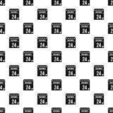 24 de novembro teste padrão do calendário, estilo simples Foto de Stock