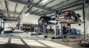 16 de novembro - Vinnitsa, Ucrânia Centro de serviço de Volkswagen Imagens de Stock