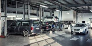 16 de novembro - Vinnitsa, Ucrânia Centro de serviço de Volkswagen Fotografia de Stock