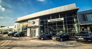 16 de novembro - Vinnitsa, Ucrânia Sala de exposições da VW de Volkswagen Imagem de Stock