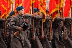 5 DE NOVIEMBRE DE 2016: Ensayo de etiqueta del desfile, dedicado a 7 de noviembre de 1941 en Plaza Roja en Moscú Imagenes de archivo