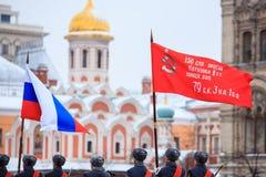 5 DE NOVIEMBRE DE 2016: Ensayo de etiqueta del desfile, dedicado a 7 de noviembre de 1941 en Plaza Roja en Moscú Imagen de archivo libre de regalías
