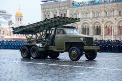 5 DE NOVIEMBRE DE 2016: Ensayo de etiqueta del desfile, dedicado a 7 de noviembre de 1941 en Plaza Roja en Moscú Imágenes de archivo libres de regalías
